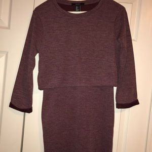 Forever 21 Long Sleeve Fitted Dress